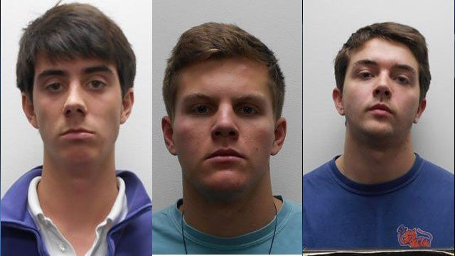 Left to right, Gilligan, McCarter, and Skinner. (Source: Clemson University Police Department)