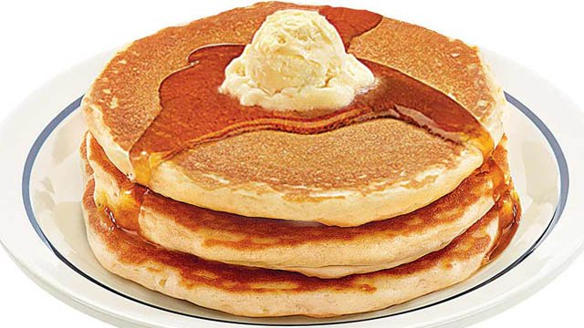 A short stack of IHOP's buttermilk pancakes (Courtesy: IHOP)
