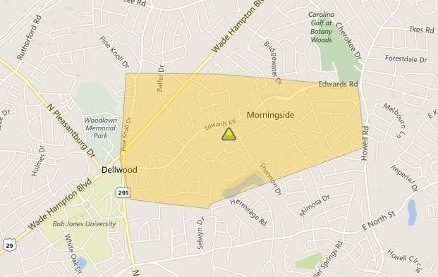 Duke Energy's outage map (Duke Energy)