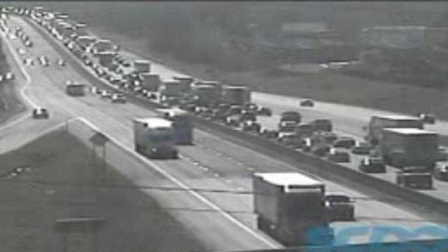 A view of the traffic on Interstate 85 in Greenville County. (FOX Carolina)
