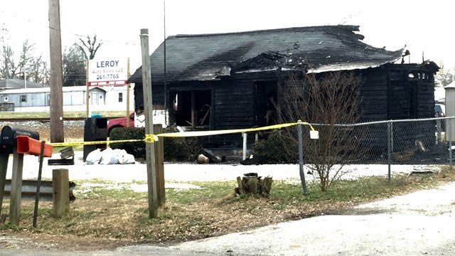 Leroy Auto Sales was torched by an arsonist Feb. 14, 2016 (FOX Carolina)