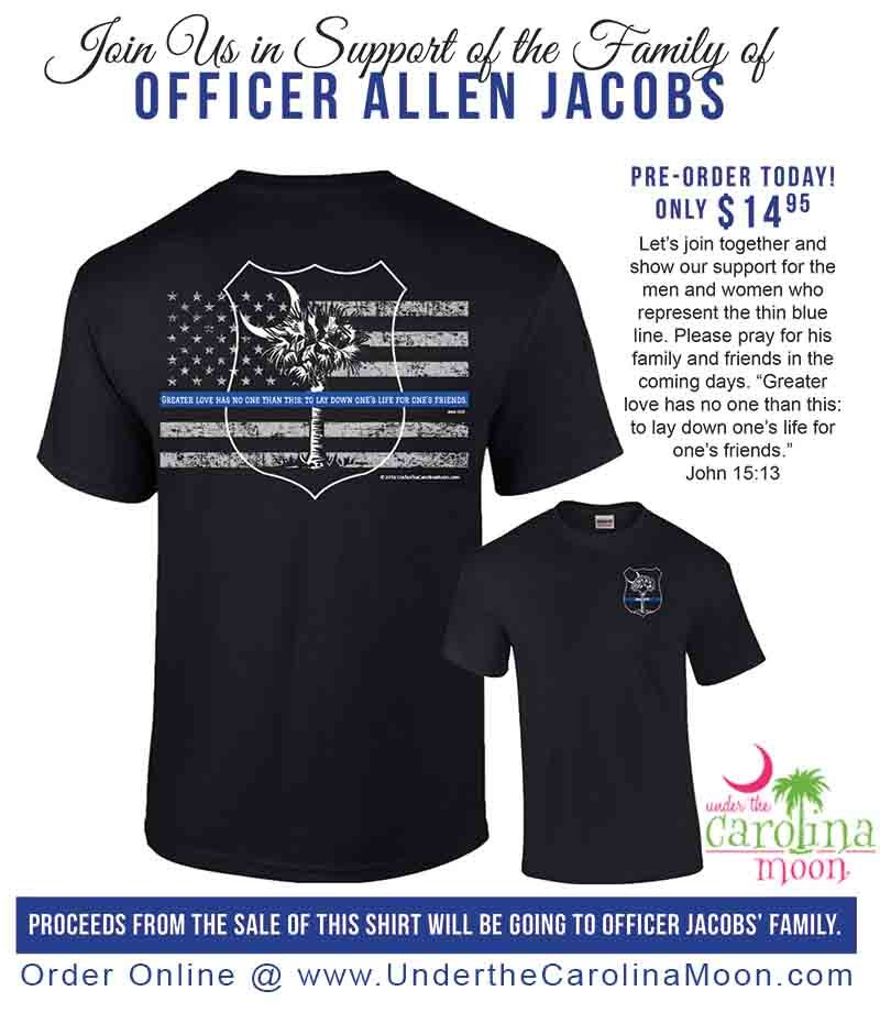 T shirt company selling shirts to benefit fallen officer 39 s for Rainforest t shirt fundraiser