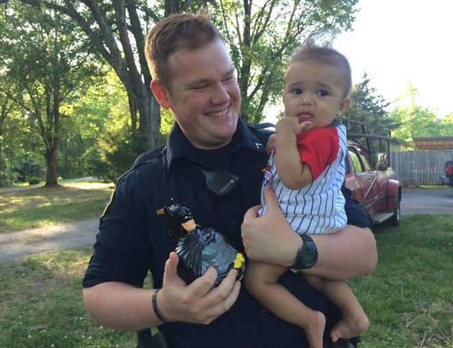 Greenville co deputy buys piggy bank for baby after home for Heath motors greenville nc