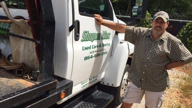 Shupee said he refused to tow a car with a Bernie Sanders bumper sticker. (May 4, 2016/FOX Carolina)