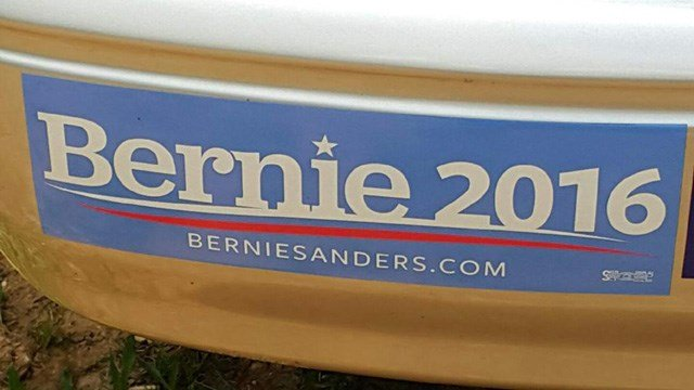 The woman's Bernie Sanders sticker led a tow truck driver to deny her business. (Source: iWitness)