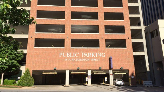 Richardson Street Parking Garage. (FOX Carolina 5/5/2016)