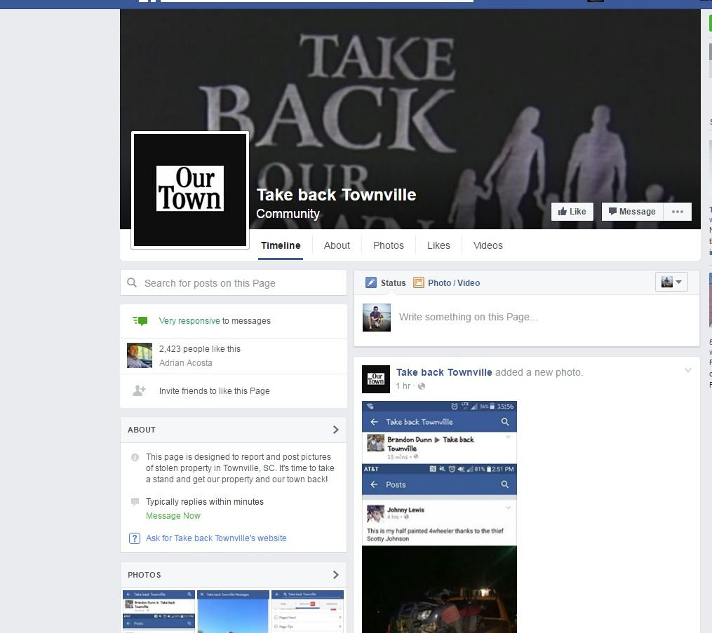 """Take Back Townville"" is a Facebook page designed to help neighbors retrieve stolen items (FOX Carolina)"