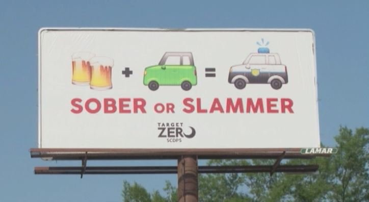 Billboard aims to bring different kind of anti-drunk driving message (Courtesy: WIS)
