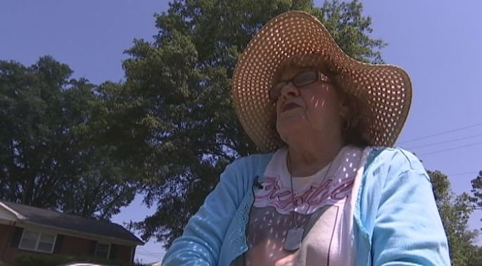 Maxine Kennedy wears a T-shirt in honor of her grand-daughter Crystal Bradshaw, brutally murdered in 2007 (FOX Carolina)