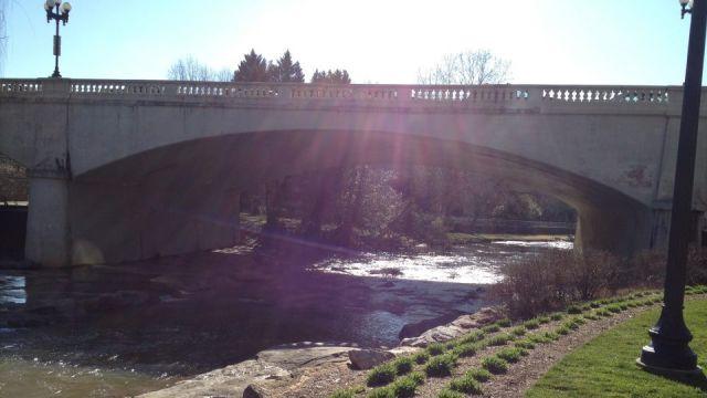 Reedy River at Falls Park (File/FOX Carolina)