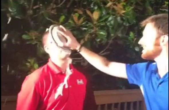 Aaron Cheslock takes a pie to the face (FOX Carolina)