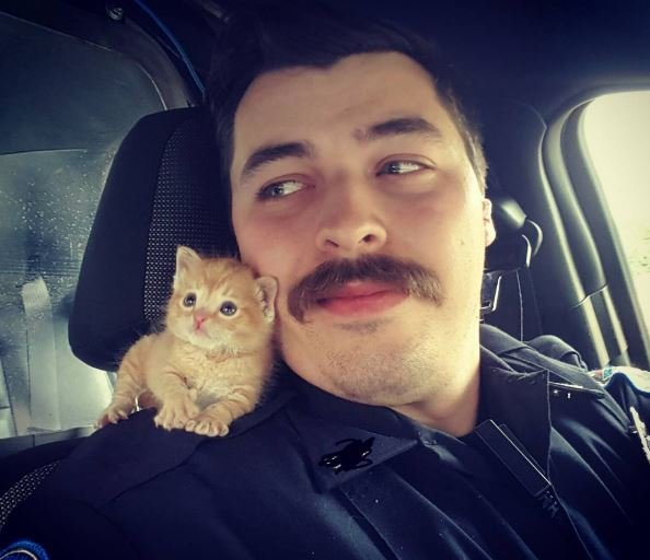 Ofc. Garrett and Squirt (Courtesy: Instagram/@donutoperator)