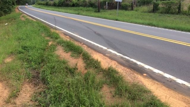Tire marks from where deadly crash happened (Credit: FOX Carolina)
