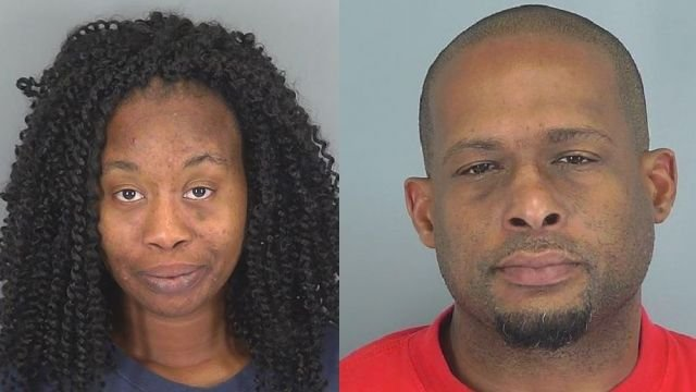 Elizabeth Pearson (left) and Anthony Harris. (Source: Spartanburg Co. Sheriff's Office)