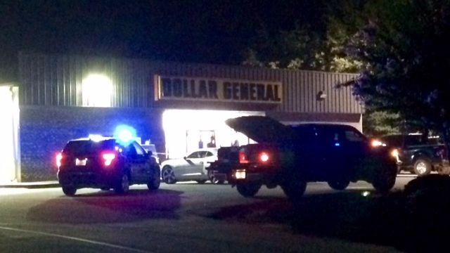 Scene of armed robbery. (Source: FOX Carolina)