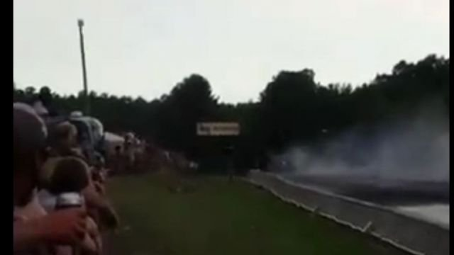 The aftermath of the crash at the dragway in Ware Shoals (Source: Fox Carolina viewer)