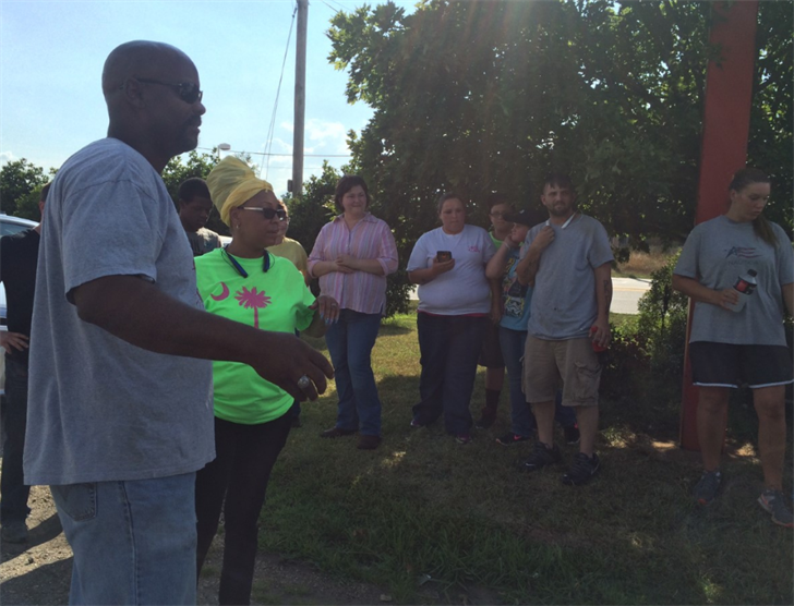 Group gathers in Pendleton to search for clues in missing baby case. (Source: Fox Carolina)