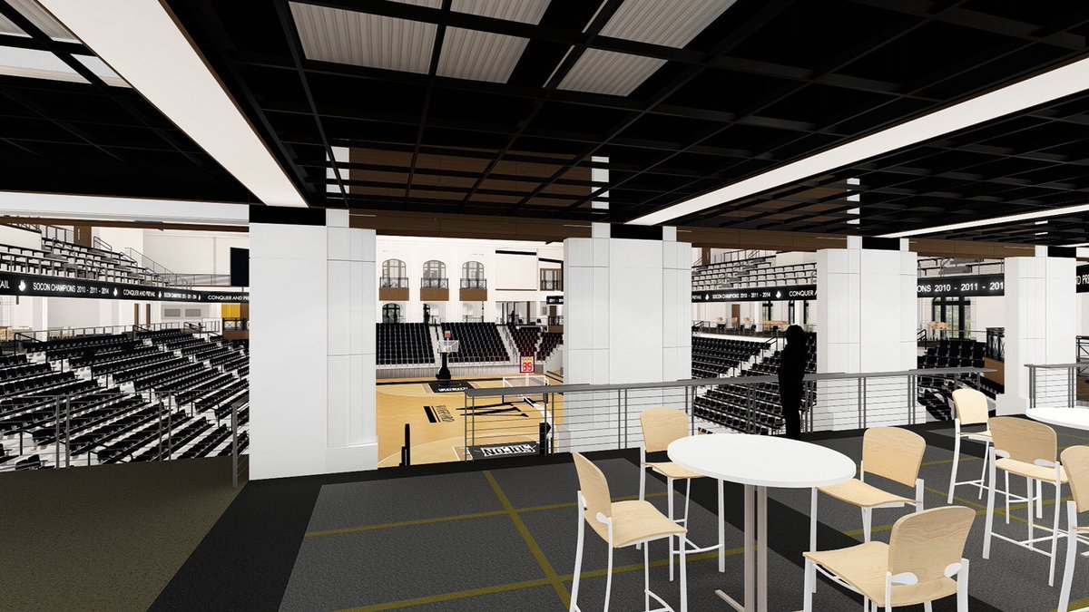 Latest renderings of Wofford's Jerry Richardson Indoor Stadium. (Courtesy of http://woffordterriers.com/)