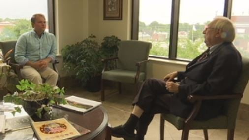 Mayor Henry Jolly sits down with FOX Carolina's Andrew Reeser to discuss his recent comments on the pool (FOX Carolina)