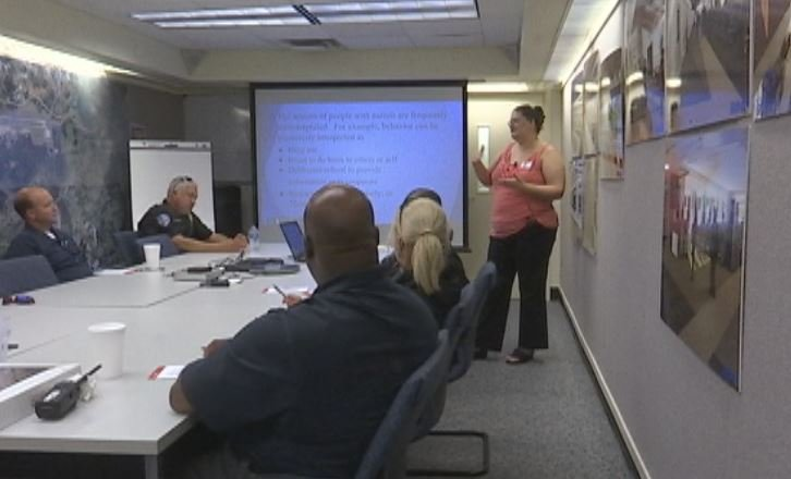 Melissa Shope with SC Autism Society gives training on autism to GSP first responders (FOX Carolina)