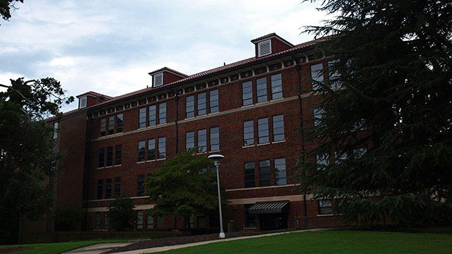 Sirrine Hall on Clemson's campus. (Source: Wikipedia)