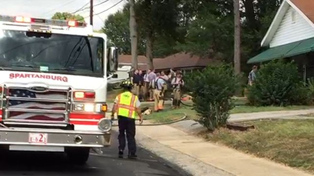 Firefighters respond to Collins Avenue. (Sep. 21, 2016/FOX Carolina)