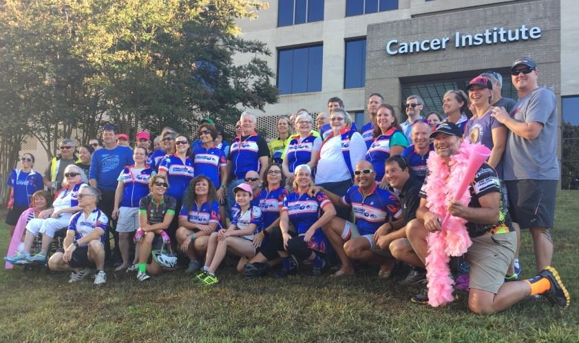 The C3 cyclists prepare to depart (FOX Carolina/ Sep. 24, 2016)