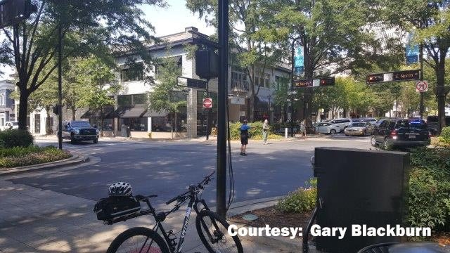 Police downtown (Courtesy: Gary Blackburn)