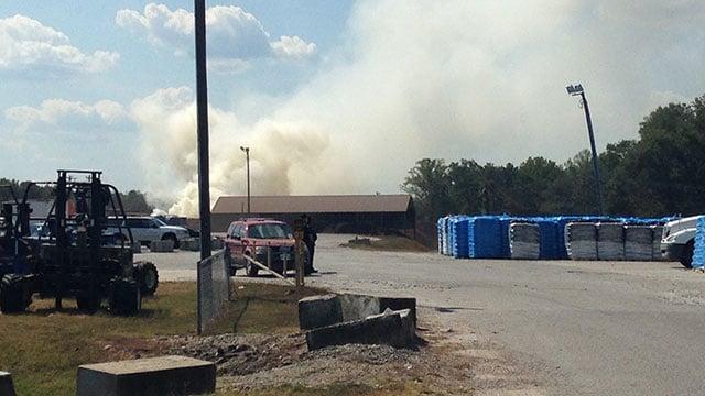 Anderson County mulch fire. (Sep. 25, 2016/FOX Carolina)