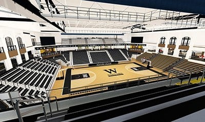 Artist rendering of the completed arena (Courtesy: Wofford)