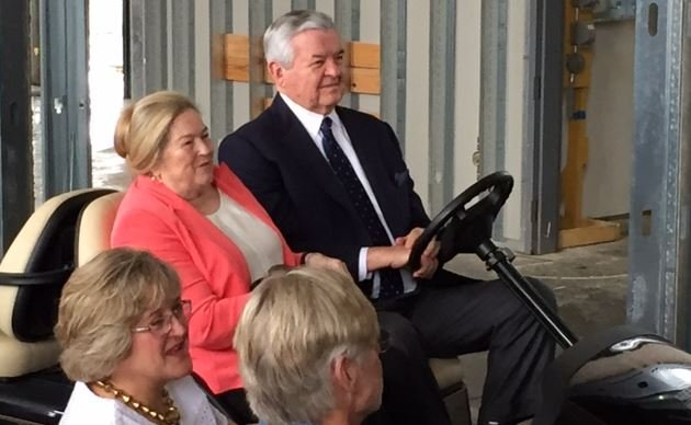Jerry Richardson attends the ceremony (FOX Carolina/ Sep. 27, 2016)