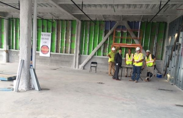 Construction workers build new Duke Foods HQ (FOX Carolina)