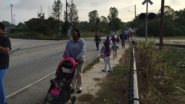 Legacy Charter School students joined students around the world in celebrating International Walk to School Day. (FOX Carolina/ 9/28/16)