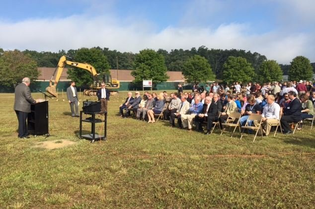 Groundbreaking ceremony at Innovative High School site (FOX Carolina/ Sep. 28, 2016)