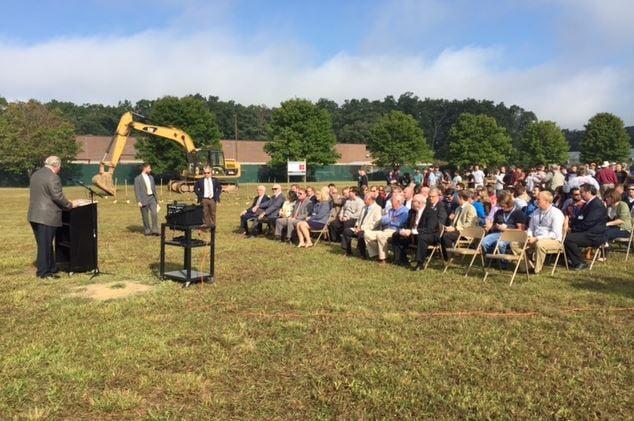 Groundbreaking ceremony at Innovative High School site (FOX Carolina/ Sep. 28, 2016)