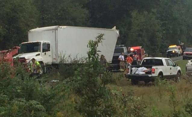 Photo of the crash (FOX Carolina)