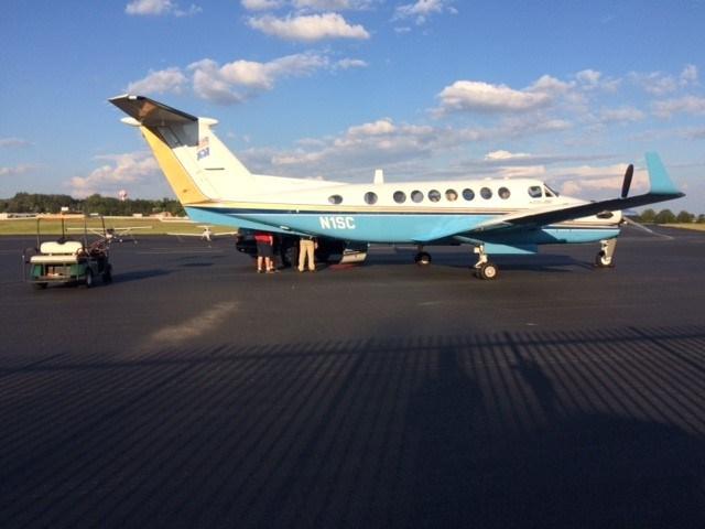 Gov. Haley's plane lands in Greenville. (Sep. 28, 2016/FOX Carolina)