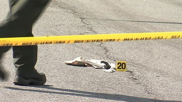 Evidence markers at the scene of the investigation. (Sep. 28, 2016/FOX Carolina)