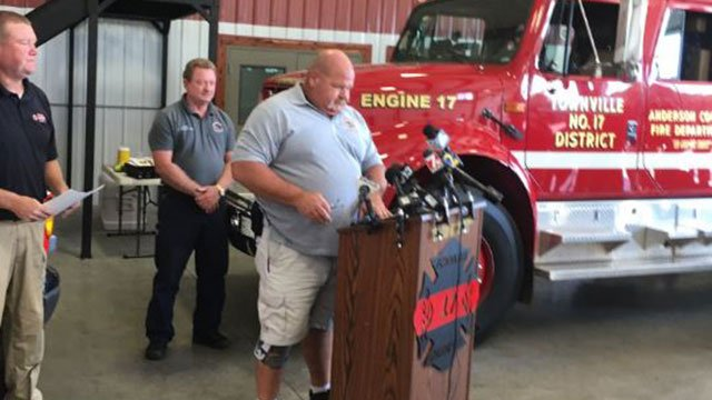 Townville fire chief Billy McAdams (Sep. 29, 2016/FOX Carolina)