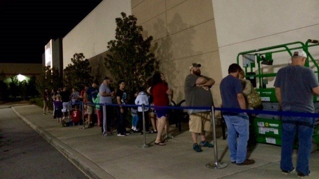 Star Wars fans were invited to a special midnight unveiling event Friday, September 30 to get a look at toys based on Rogue One: A Star Wars Story. (FOX Carolina/ 9/30/16)