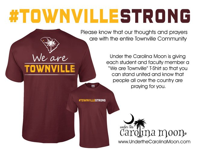 Shirts to be given to Townville Elementary students, staff. (Source: UTCM)