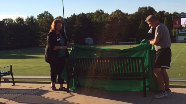 Bench in memory of USC Upstate student dedicated at soccer ...
