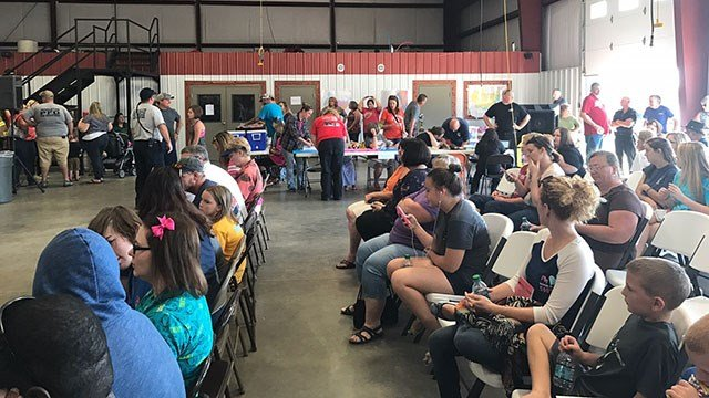 People from across the Upstate turned out in droves on Sunday to donate blood in memory of 6-year-old Jacob Hall.(FOX Carolina/10/2/16)