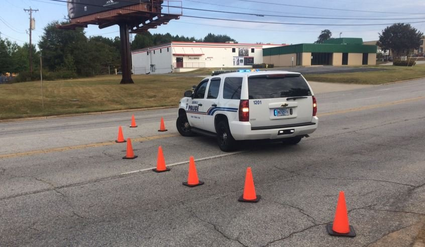 Police block traffic on Haywood Road (FOX Carolina)