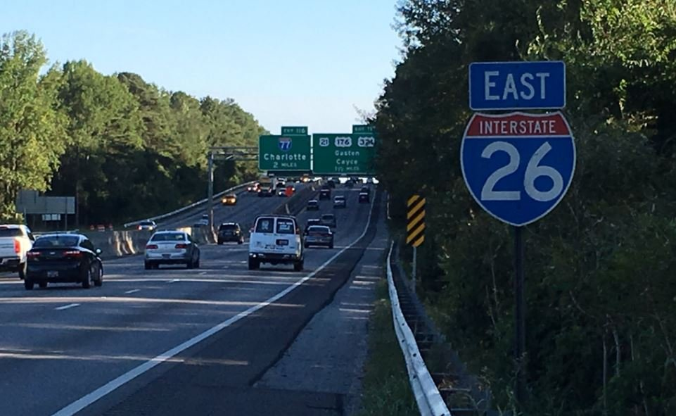 Lanes are expected to be reversed on I-26 east. (Oct. 4, 2016/FOX Carolina)