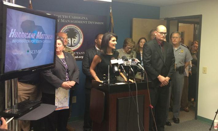 Gov. Haley speaks about hurricane preps (FOX Carolina)