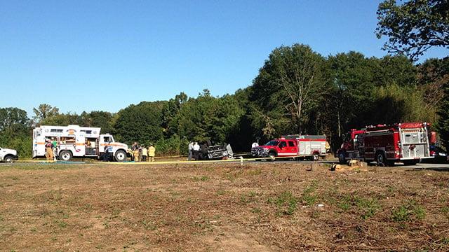 Scene of fatal Townville crash. (Oct. 5, 2016/FOX Carolina)
