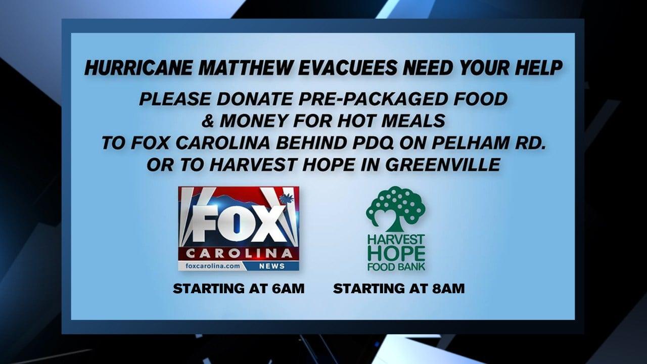 Donations are desperately needed for victims of Hurricane Matthew. (file/FOX Carolina)