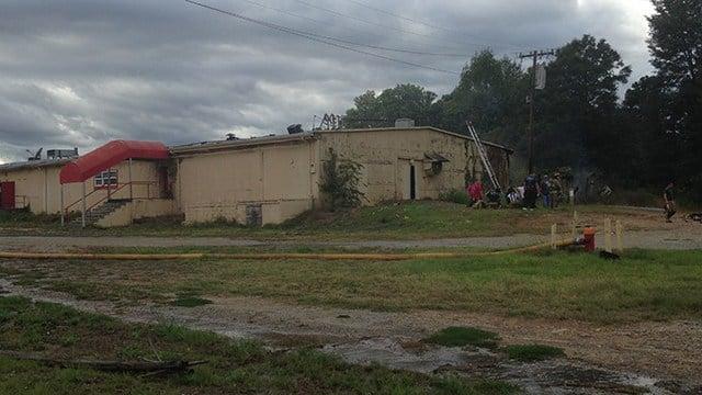Fire on West Blackstock Road. (FOX Carolina/ 10/8/16)