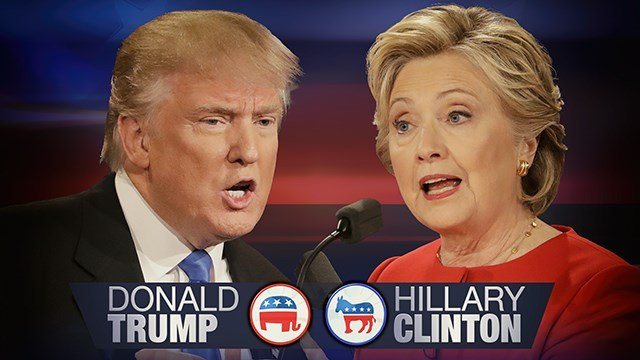 Presidential candidates Donald Trump and Hillary Clinton. (Source: AP Images)